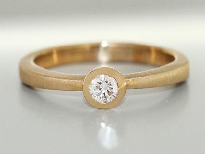 Brillantring 0, 20 ct. Solitärring Ring Gold 585 Goldring massiv Klassiker RW56 - Vorschau 2