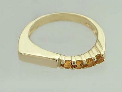 Damenring Ring Gold 585 mit Citrin Goldring Zitrinring