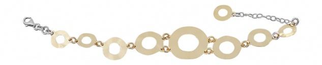 Top Design! Armband Silber 925 vergoldet - Silberarmband - Armkette Damen Gold