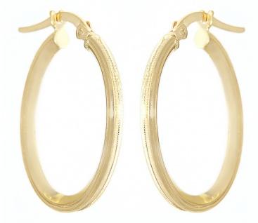 Ovale Creolen Gold 585 Ohrringe 14 Karat Ohrschmuck 2, 1 x 1, 7 cm
