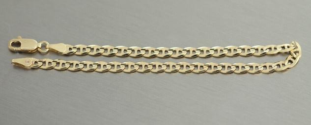 Armband Gold 585 Ankerkette Armkette Goldarmband 19, 5 cm massiv Karabiner