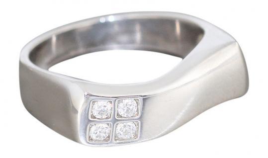 Silberring 925 - moderner Ring Silber mit Zirkonias - top Damenring echt Silber
