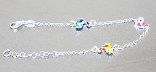 Armband Silber 925 Kinder Vogel Armkette massiv Mädchen Karabiner Vögelchen