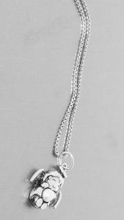 Schutzengel Anhänger Kette Silber 925 Perle Silberkette massiv Venezianerkette