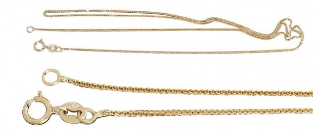 Goldkette Zopfkette Gold 333 / 8 Karat feine Halskette Collier Damen 45 / 50 cm