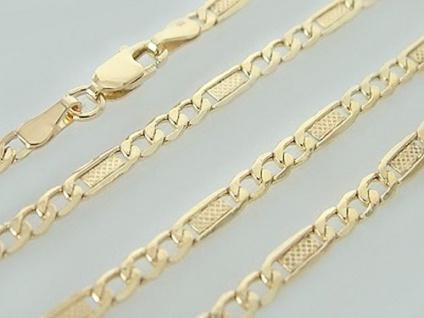 Dekorative Goldkette 333 Halskette 45 cm mit Karabiner - Kette Gold - Halskette