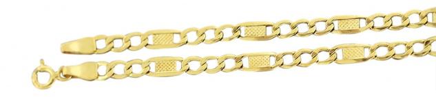 20 cm Goldarmband 585 Panzerkette Dekorglieder Armband Gold 14 kt Armkette