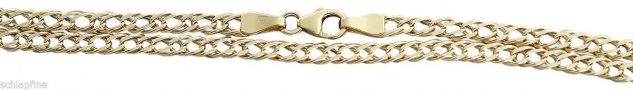 Goldkette 333 Halskette feine Kette Gold geschliffen 8 kt 42 45 50 55 cm
