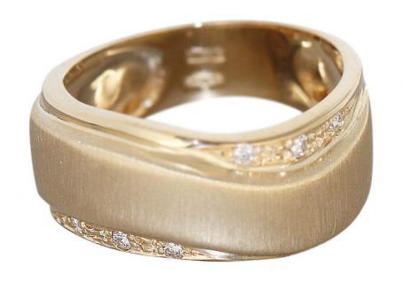 Brillantring Gold 585 massiver schwerer Goldring Brillanten Damenring RW 56 / 57