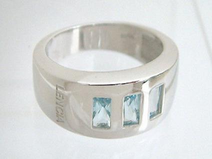 Silber 925 und Blautopas moderner Silberring 925 Ring Silber Super Design