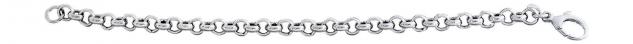 20 cm Armband Silber 925 - Erbskette - Silberarmband - Armkette rhodiniert Kette