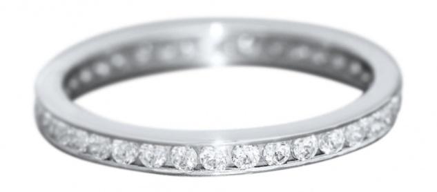Ring Weißgold 585 mit Zirkonia - Memoryring Weißgoldring- Damenring Gold 14 kt