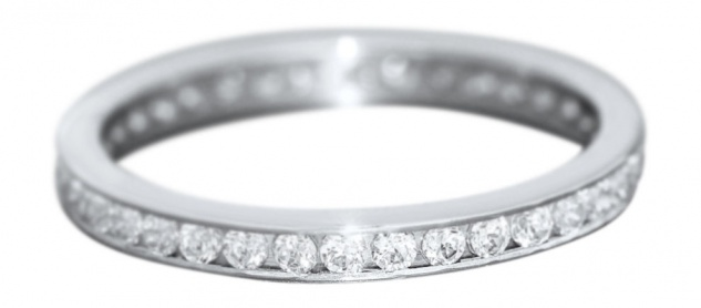 Ring Weißgold 585 mit Zirkonia Memoryring Weißgoldring Damenring Gold 14 kt