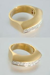 Brillantring schwerer Goldring 750 mit 80 Brillanten - Ring Gold Damenring 18 kt
