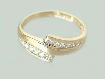 Traumhafter Brillantring Ring Gold 585 mit Brillanten top Design Goldring 14Kt
