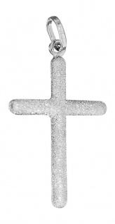 Kreuz Anhänger Weißgold 585 diamantiert großer Kettenanhänger 14 Kt.
