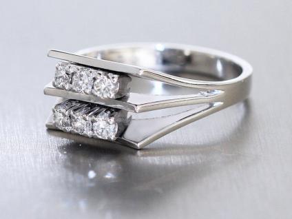 Brillantring 0, 45 ct Weißgoldring 585 mit Brillant massiver Ring Weißgold