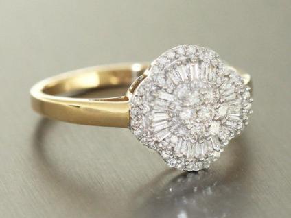 Luxus Brillantring Gold 585 - Diamantring 0, 50 ct. - Goldring - Ring RW 66