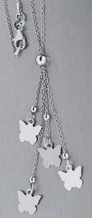 Y Silberkette 925 Kette Silber mit Schmetterling Collier mit Schmetterlingen