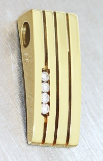 Anhänger Gold 585 Brillanten Kettenanhänger Brillantanhänger Diamant Top Design - Vorschau 3