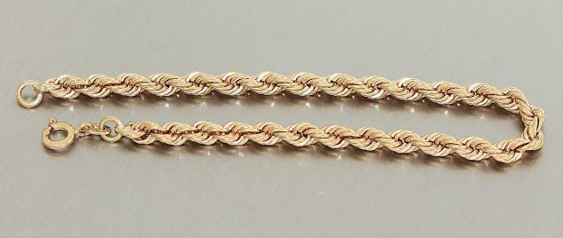 Wallisarmband Gold 585 Armkette 14 Karat Gelbgold massiv 10, 6 gr Damen 18, 5 cm