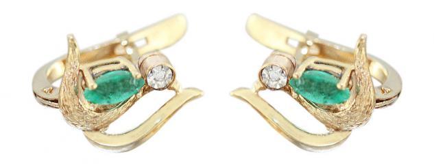 diamant smaragd ohrringe g nstig kaufen bei yatego. Black Bedroom Furniture Sets. Home Design Ideas