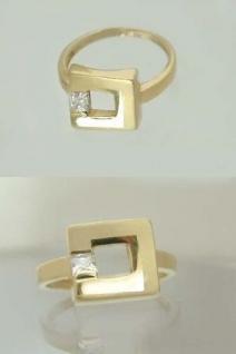 Designerring Goldring 585 Ring Gold Carree im Carree Solitärring Damenring