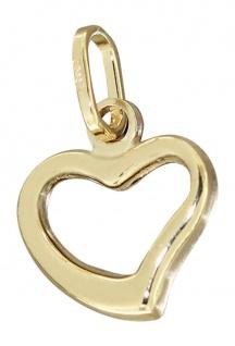 Kleines Herz mit Schwung - Anhänger Herz Gold 333 - Goldherz - Goldanhänger 8 kt