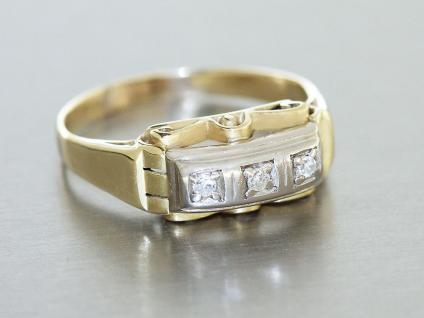Ring Gold 585 - Ring in 14 kt Gold (585/000) mit 3 Diamanten