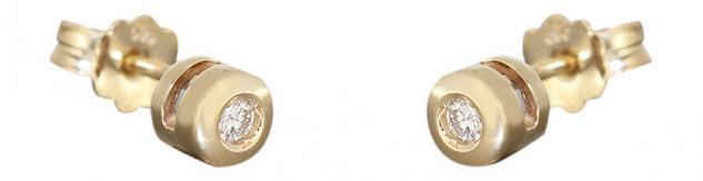 Ohrstecker Gold 585 mit Brillanten Ohrschmuck Brillantohrstecker Ohrringe 14kt