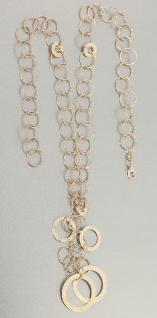 Collier Gold 585 Goldkette große runde Glieder Halskette Anhänger Kette Damen