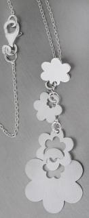 Kette + langer Blumen Anhänger Silber 925 Collier Silberkette Halskette Y-Kette