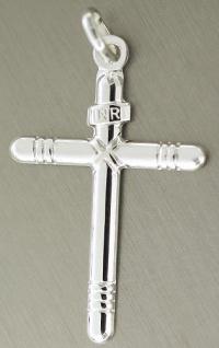 Edles Silberkreuz 925 Anhänger Kreuz Silber zur Kommunion Silberanhänger