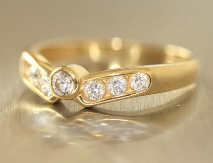 Goldring 750 mit Zirkonias zarter Ring Gold 18 kt Ring echt Gold Damenring
