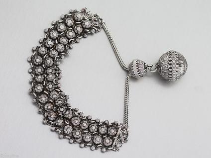 Altes byzanthinisches Armband in Silber 800, 23mm breit