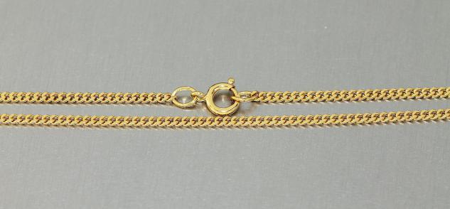 45 cm Panzerkette vergoldet massive Kette Gold plated Halskette Goldkette pl