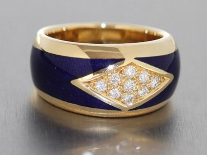 15, 5 gr schwerer Goldring 750 m. Brillanten 0, 18ct Ring Gold edler Brillantring