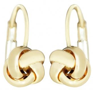 Ohrhänger Gold 585 Ohrschmuck Knoten Ohrringe Brisuren Damen 14 Karat