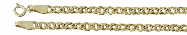 20 cm Goldarmband 585 - Armkette - Armband Gold 14 kt - flach und geschliffen