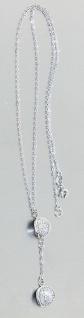 Kette Weißgold 585 mit Zirkonia Anhänger Y Kette Damen Halskette