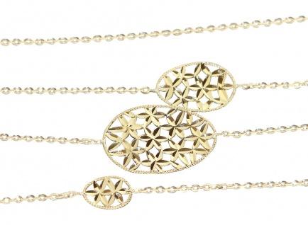 90 cm lange Goldkette 750 / 18 kt ovale Glieder Halskette Gelbgold Collier Gold