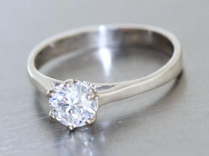 Ring Silber 925 RING in Silber (925) mit 1 Zirkonia