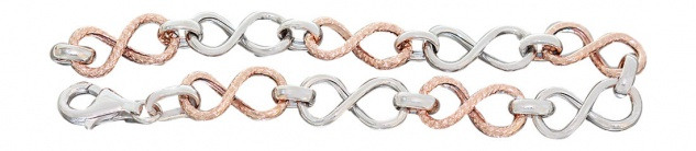 Super Armband Silber 925 Gliederarmband Silberarmband Rotgold vergoldet Armkette