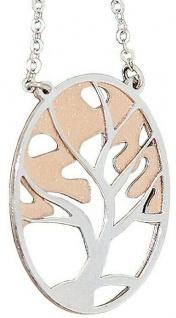 Lebensbaum Kette Silber 925 Rotgold Silberkette Collier Halskette Damen