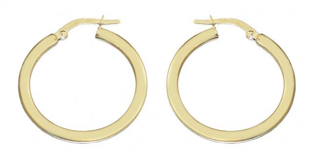 Creolen Gold 585 Ohrringe 14 Karat Damen Herren Ohrschmuck 2, 6 cm Ø