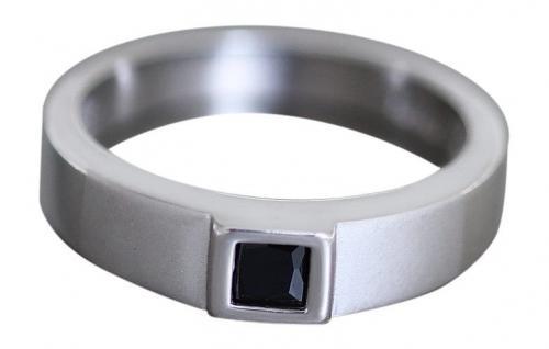 Cooler Silberring 925 mit Onyx - Ring echt Silber - Damenring - top Solitärring
