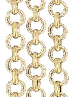 Goldkette 585 große runde Glieder super Halskette 14 Karat Collier Gold 62 cm