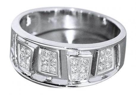 Edler Brillantring in Weißgold 750 mit Brillanten 0, 50 ct. - Ring Weißgold 18 kt