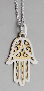 Hand der Fatima Silber 925 Anhänger od mit Kette massiv Hamsa Silberkette