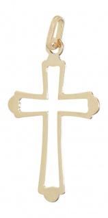 Anhänger Kreuz Gold Goldkreuz 585 Kreuz durchbrochen Goldanhänger 14 kt